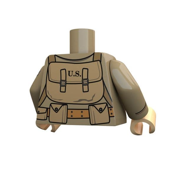Airborne 82nd | Lego Printed Torso | United Bricks